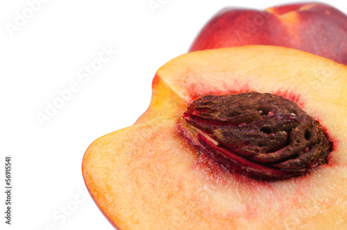 Close up ripe peaches