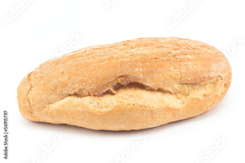 Homemade bread isolated on white