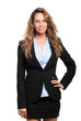 Smiling businesswoman portrait