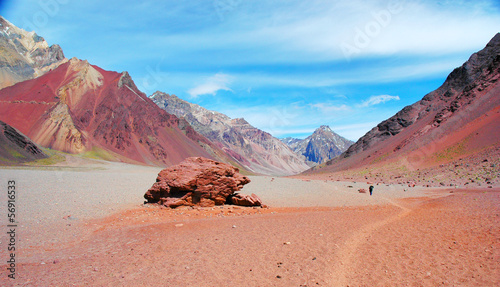 Mountain panorama in the Andes