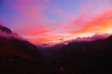Majestic sunset on Aconcagua National Park