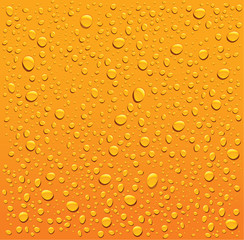 orange water droplets background