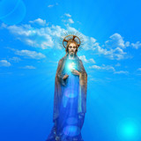 jesus christ statue with blue sky background