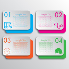 Four rectangles options infographic_2
