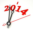 new year 2014 concept clock hands closeup