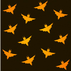 seamless background for halloween with bats