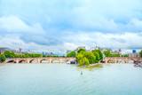 Pont neuf bridge and Seine river in Paris, France