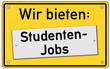 Studenten Jobs Schild  #131006-svg03