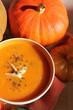 soup, soupe de citrouille, pumpkin, courge
