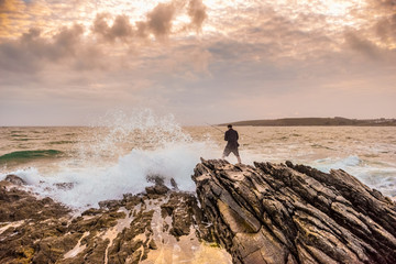Angler an der Küste