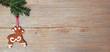 Rentier auf Holz