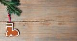 Nikolausstiefel auf Holz