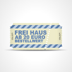 ticket v3 frei haus ab 20 euro bestellwert I