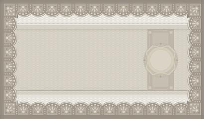 Voucher coupon paper template