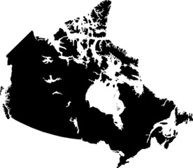Black Canada map