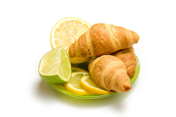 булочки с лимоном и лаймом