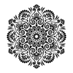Radial geometric pattern