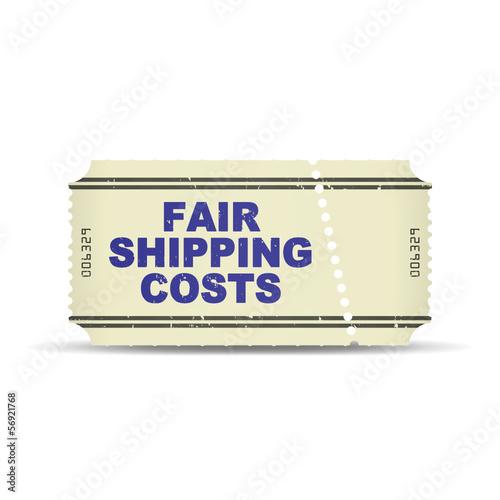 ticket v3 fair shipping costs I