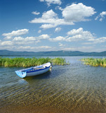 Boat On Lake Prespa, Republic of Macedonia poster