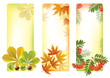 Vertical autumn banners