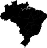 Black Brasilia map