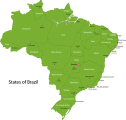 Green Brasilia map
