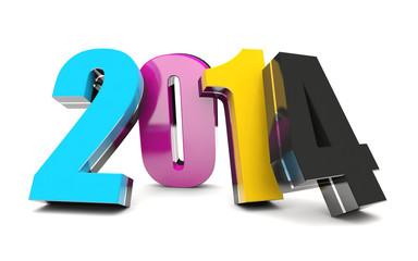 CMYK 2014 Happy New Year calendar background