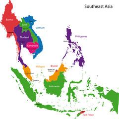 Southeastern Asia map