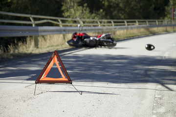 Accident with motorbike