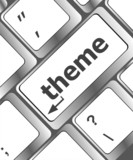 theme button on computer keyboard