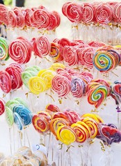 Sweet and colorful lollipops
