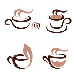 hot drinks - icon set
