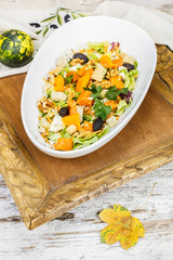 Pumpkin salad. Festive Roast Pumpkin Salad