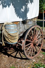 Western Wagon with Barrel