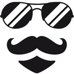 Cool Mustache Man