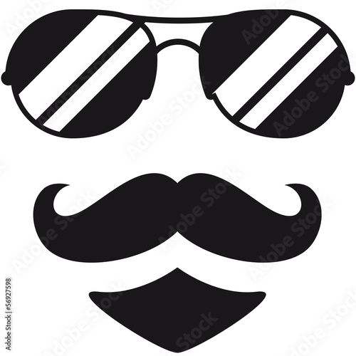 canvas print picture Cool Mustache Man