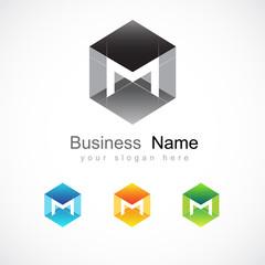 logo design based on letter M