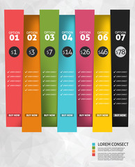 Modern business options banner. Vector illustration. Infographic