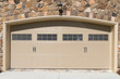 Residential house garage door
