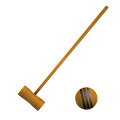 Mallet and ball croquet