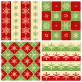 Four Christmas seamless patterns