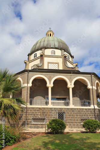 Basilica and colonnade at Mount Beatitudes
