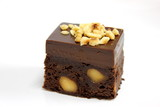 chocolate brownie cake with nut