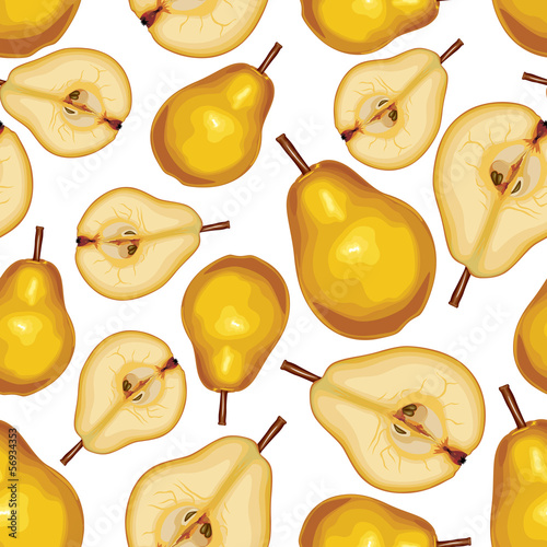 Pear seamless pattern