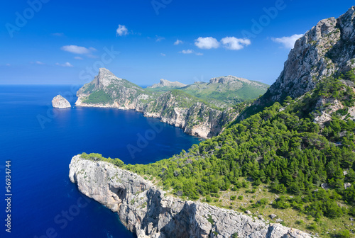 Formentor cape in summer landscape