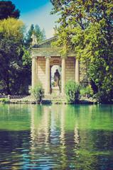 Villa Borghese, Rome retro look
