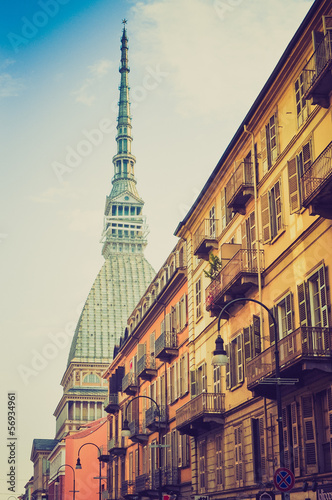 Mole Antonelliana Turin retro look