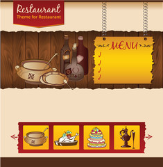 Retro cafe website design template