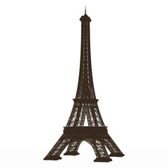 detailed vector eiffel tower