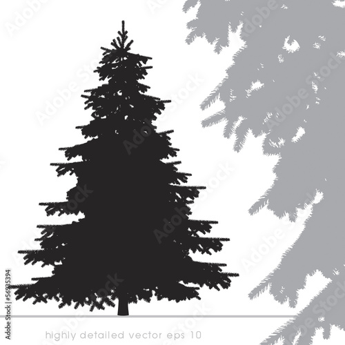 Christmas tree vector with highly details.